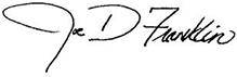Joe's Signature